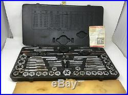 Vintage Sears Craftsman USA 9-52151 Kromedge Mechanics Tap & Die Set with Case