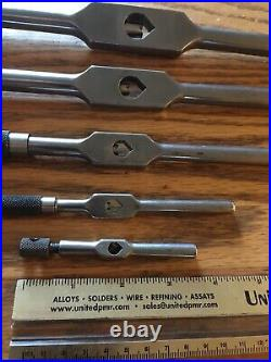 Vintage Set 5 Starrett Tap Wrenches Collectible Tools Tool & Die Machinist USA