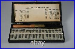 Vintage Set of Screw Dies and Taps 41-607 Watchmaker Tool