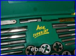 Vintage Tap & Die Set ACE Super Set No 614 Henry L Hanson Co USA COMPLETE H1