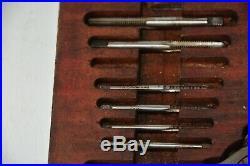 Vintage Tap and Die Set BA 0 1 2 3 4 5 6 Lehmann Archer & Lane Original Wood Box