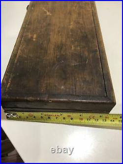 Vintage Tap and Die Set Imperial Thread Collectable Tool Industrial In Wood Case