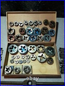 Vintage Tap and Die Set with Tap Wrench Presto & Goliath see description