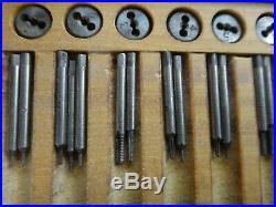 Vintage Watchmakers Screw Tap and Die Set Jewelers Bench Tool NICE