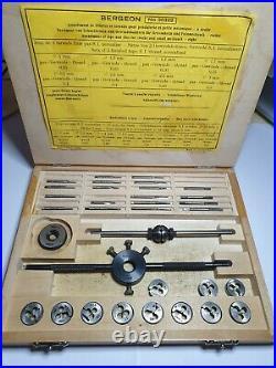 Watchmakers Tap & Die Set Bergeon #30322 Watch screw Repair Tool